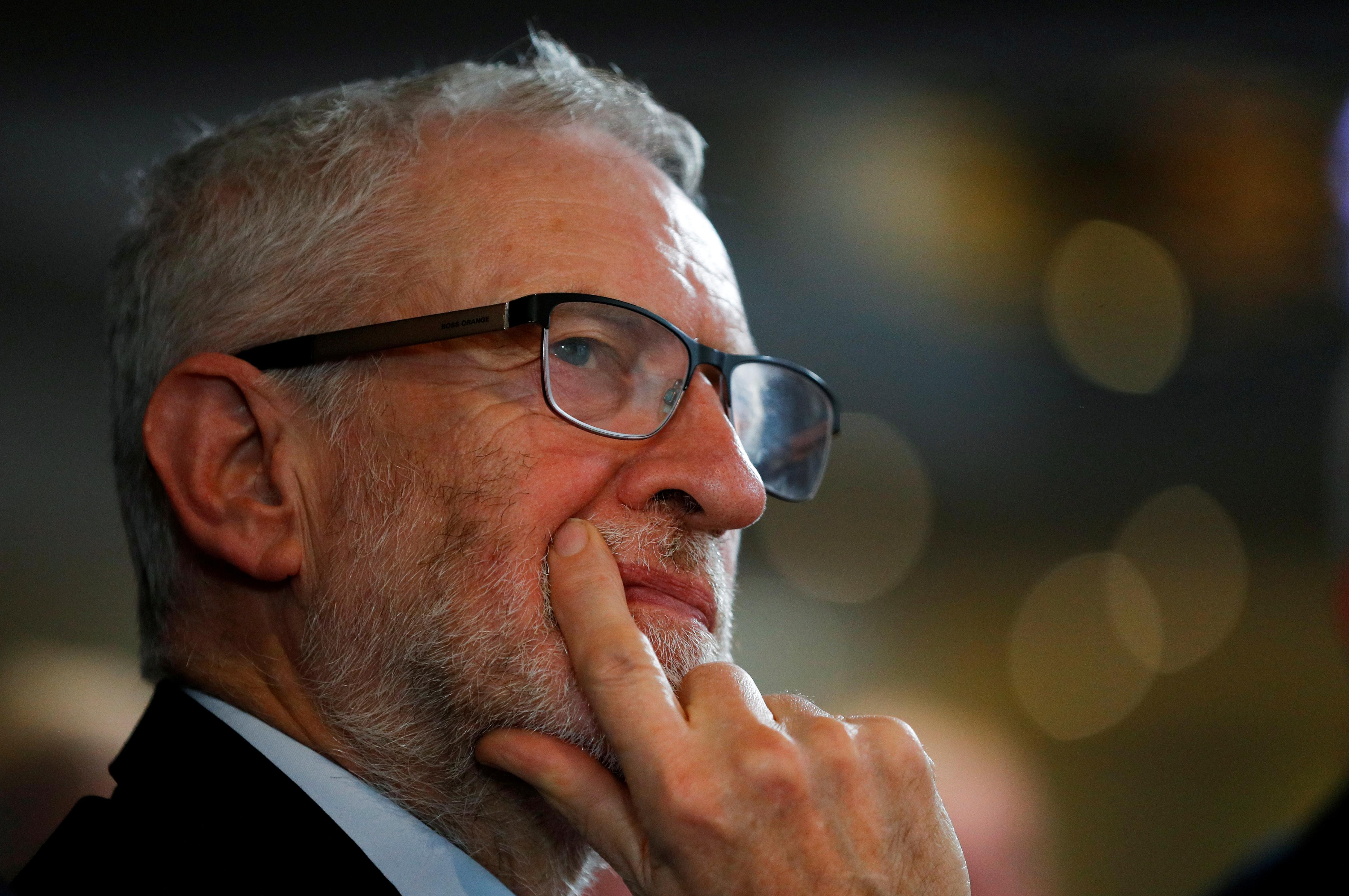 "UK's Corbyn ""very nervous"" about election after cyber attack"