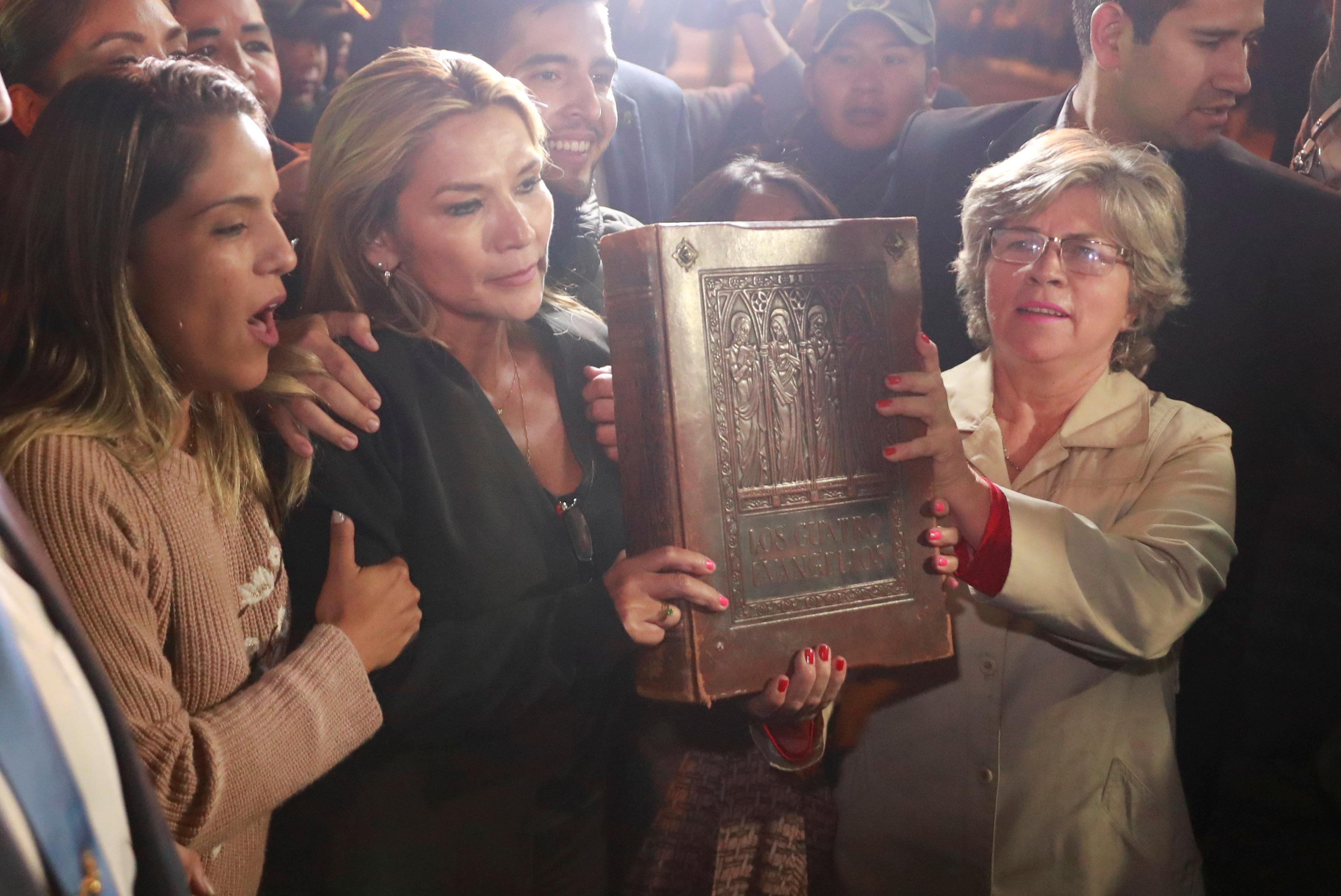 Bolivian Senate head assumes interim presidency; Morales' loyalists...