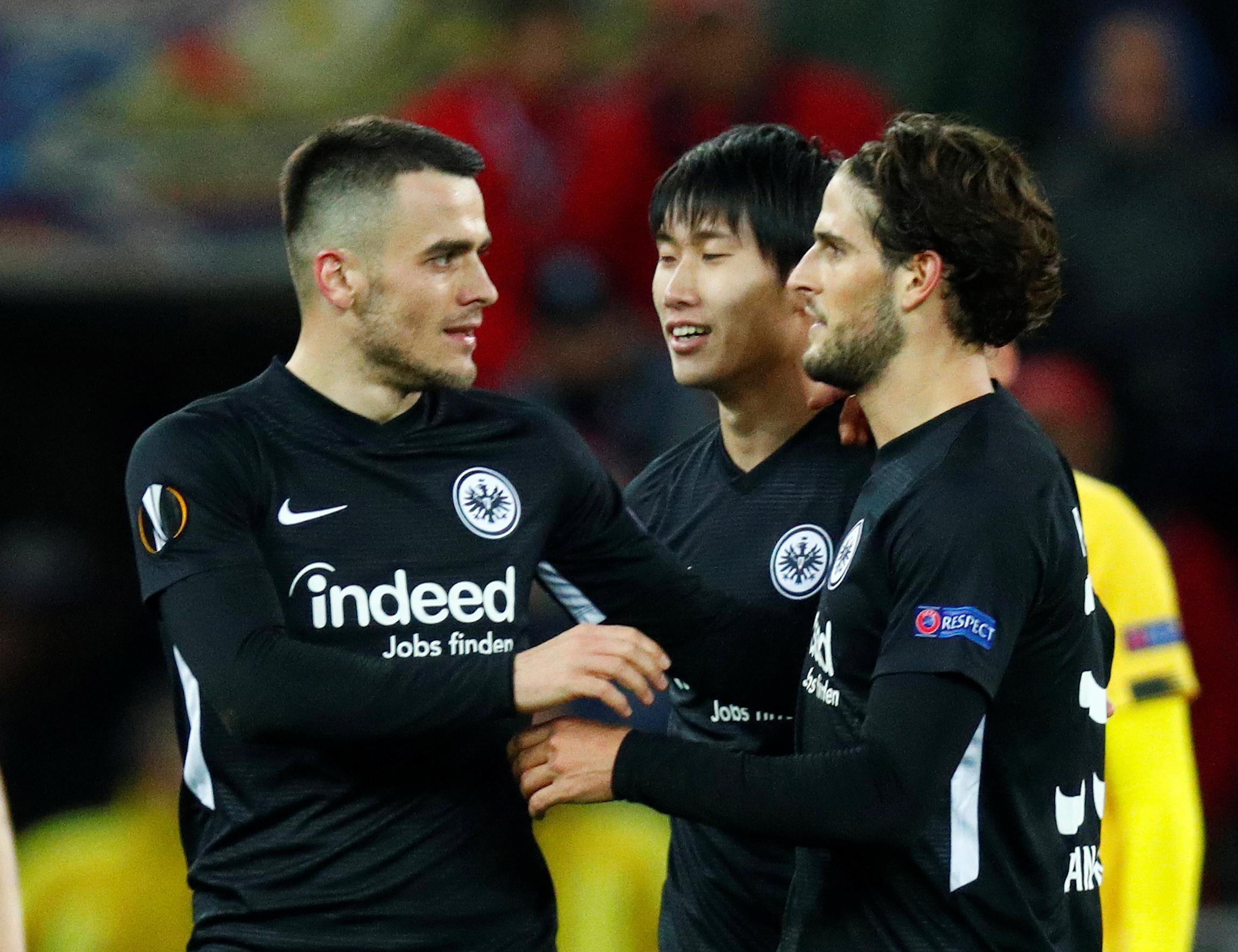 Frankfurt lose appeal against fan ban for Arsenal match