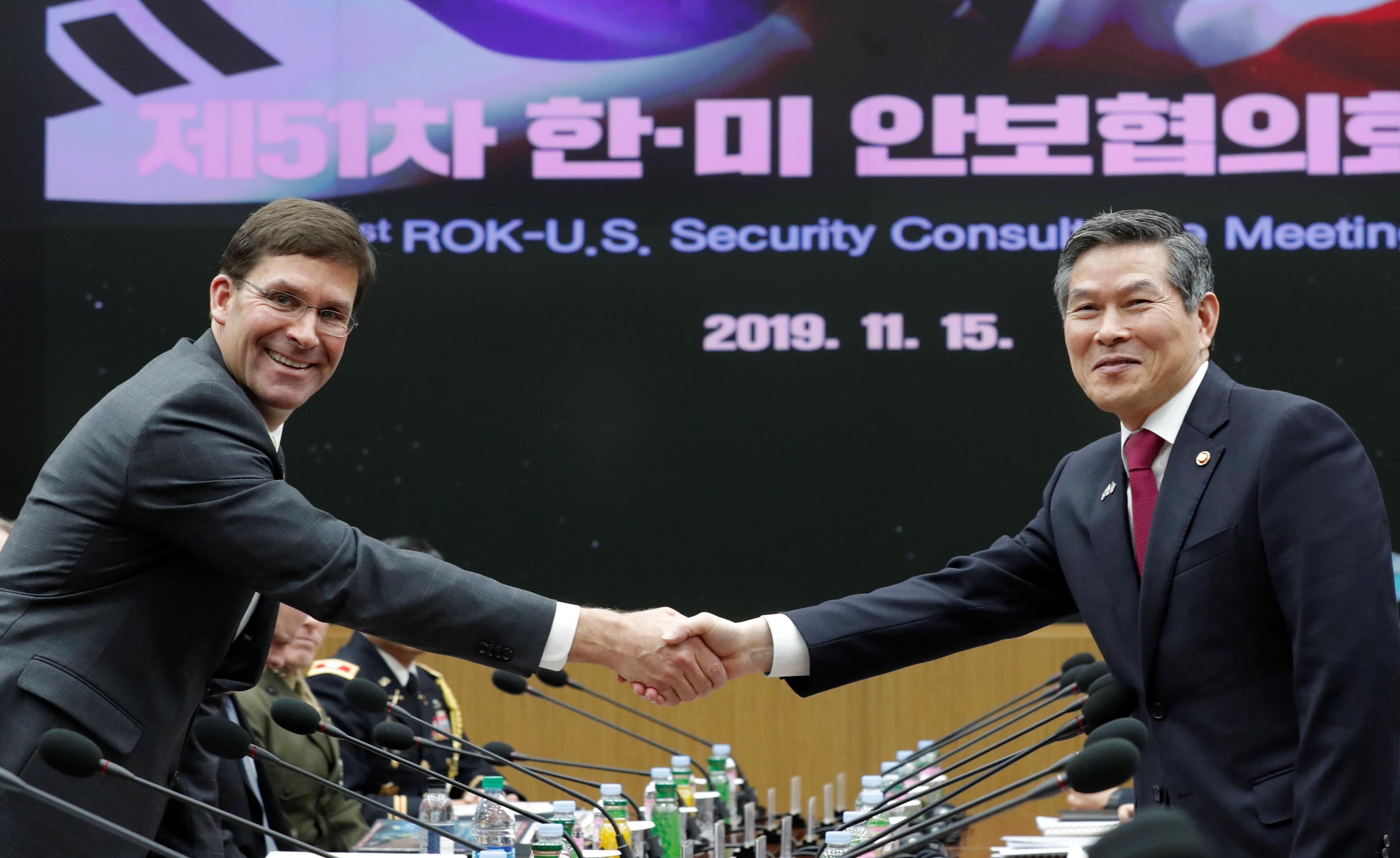South Korea, U.S. defense chiefs reaffirm commitment to defend...