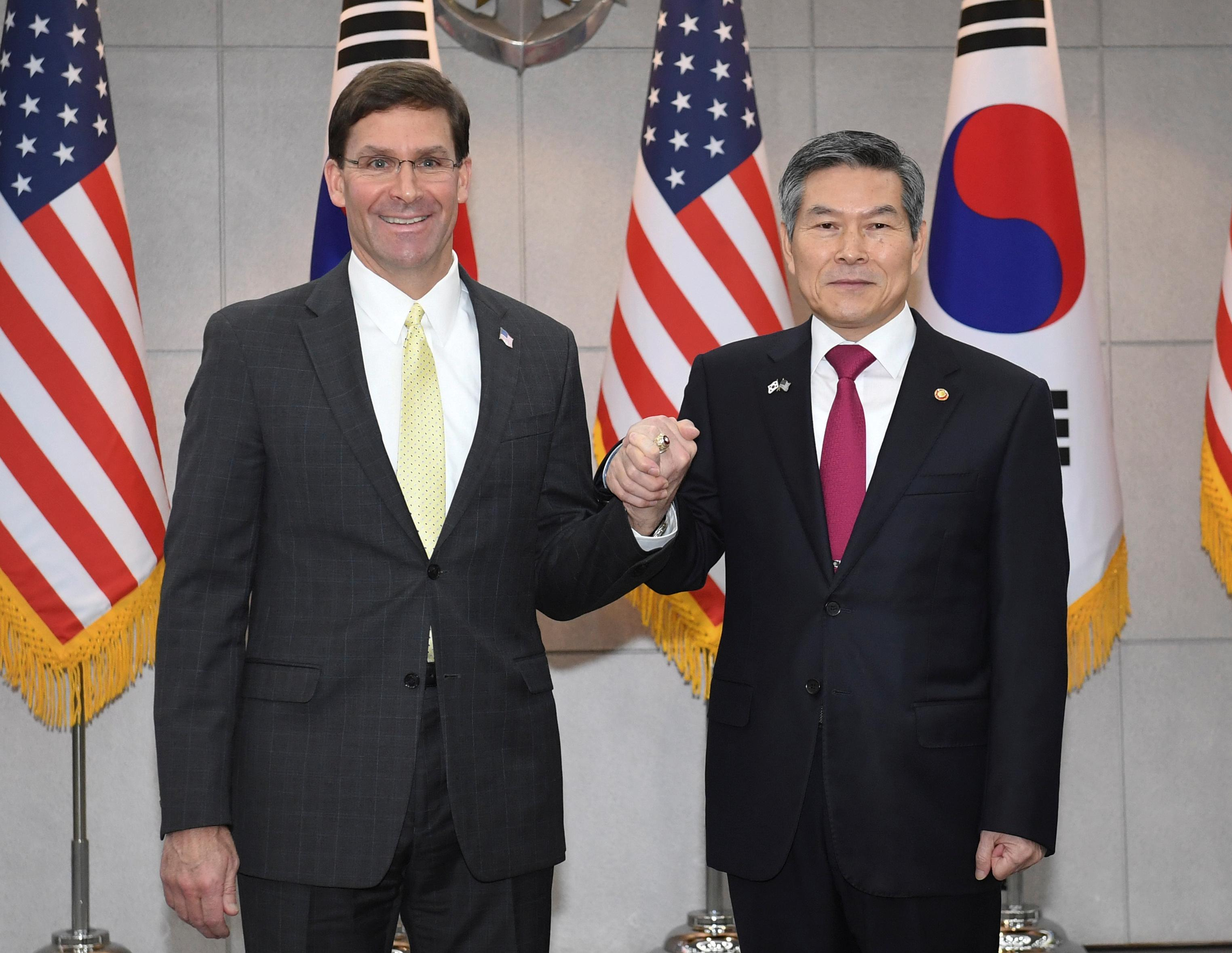 Pentagon's Esper says it is crucial South Korea pays more for U.S....