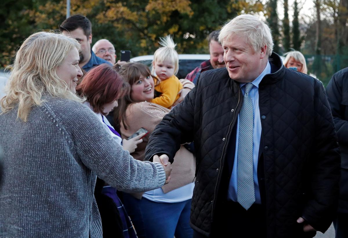 UK's Johnson extends lead over Labour before election: poll