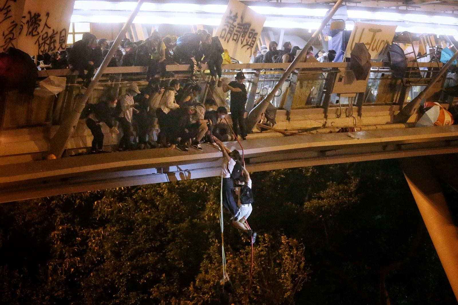 At Hong Kong university, a daring escape but fears of bloodshed