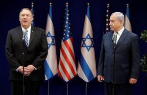 U.S. Secretary of State Mike Pompeo and Israeli Prime Minister Benjamin...