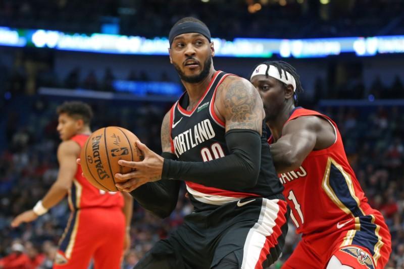 NBA roundup: Pelicans dump Blazers in Anthony's debut