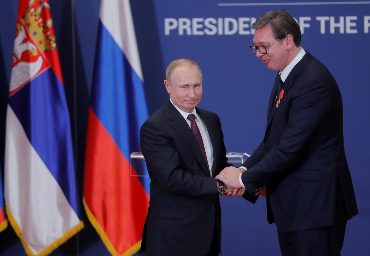 Serbia probes video purportedly showing Russian spy handing cash to Serbian agent