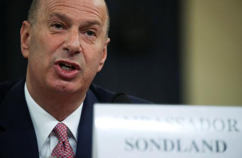 U.S. ambassador to EU testifies in Trump impeachment hearings