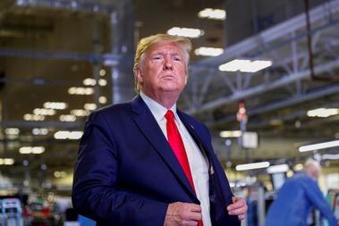 U.S. President Trump tours Apple Computer plant in Austin, Texas
