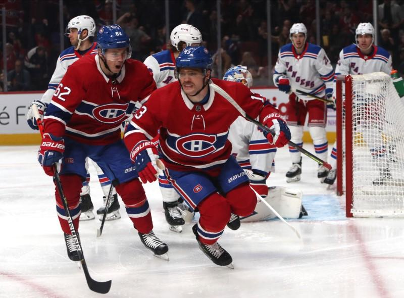 Rassemblement dans la LNH: les Rangers se rassemblent pour réduire les Canadiens