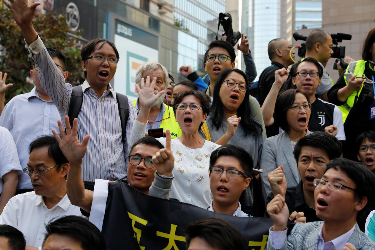 Major news outlets in China have largely avoided detailed reporting of district council election results in Hong Kong, where pro-democracy candidates scored a landslide victory that some say amounted to support for anti-government protests