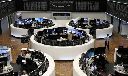 UPDATE 1-European shares hit 4-year high on fresh US-China trade deal hopes