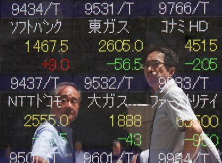 REFILE-GLOBAL MARKETS-Stocks shy from breaking new highs as trade mood darkens