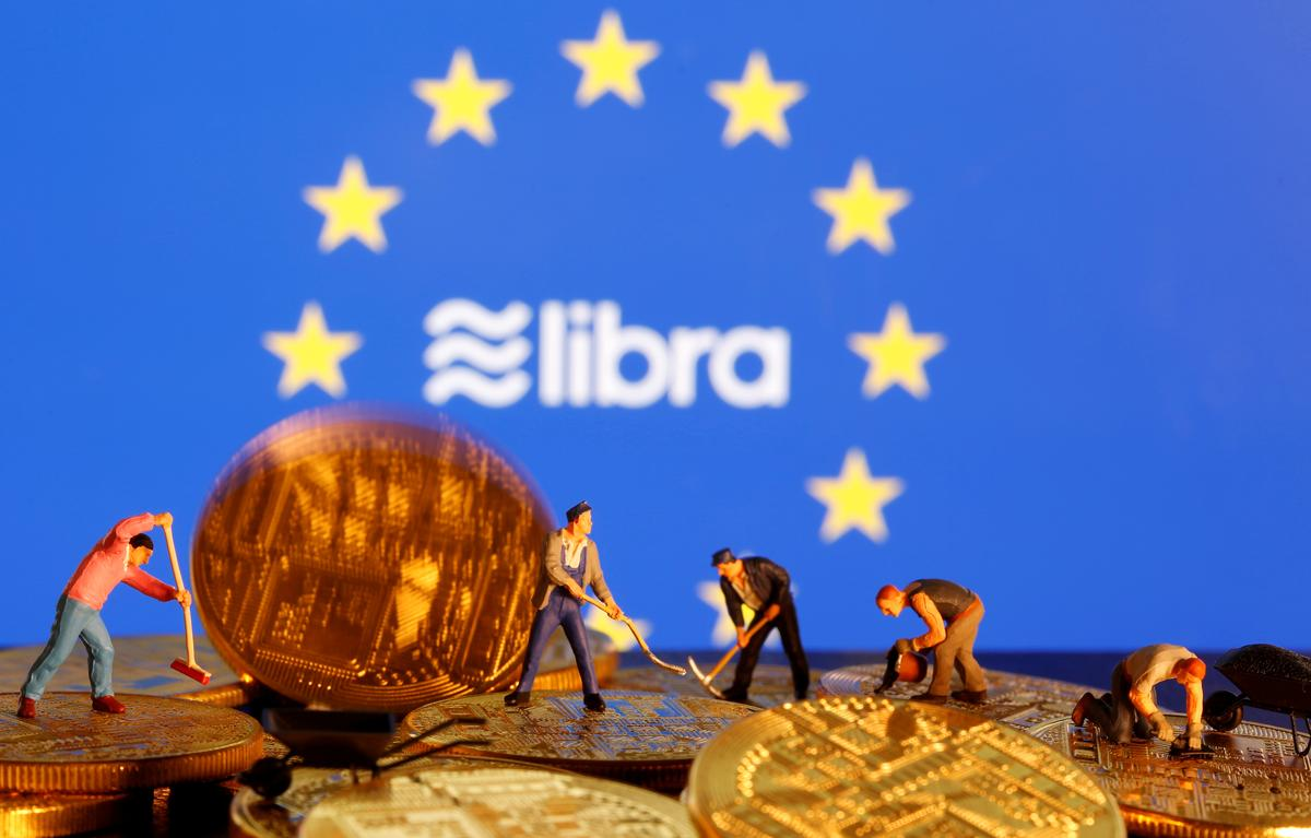 EU agrees tough line on digital currencies like Facebook's Libra