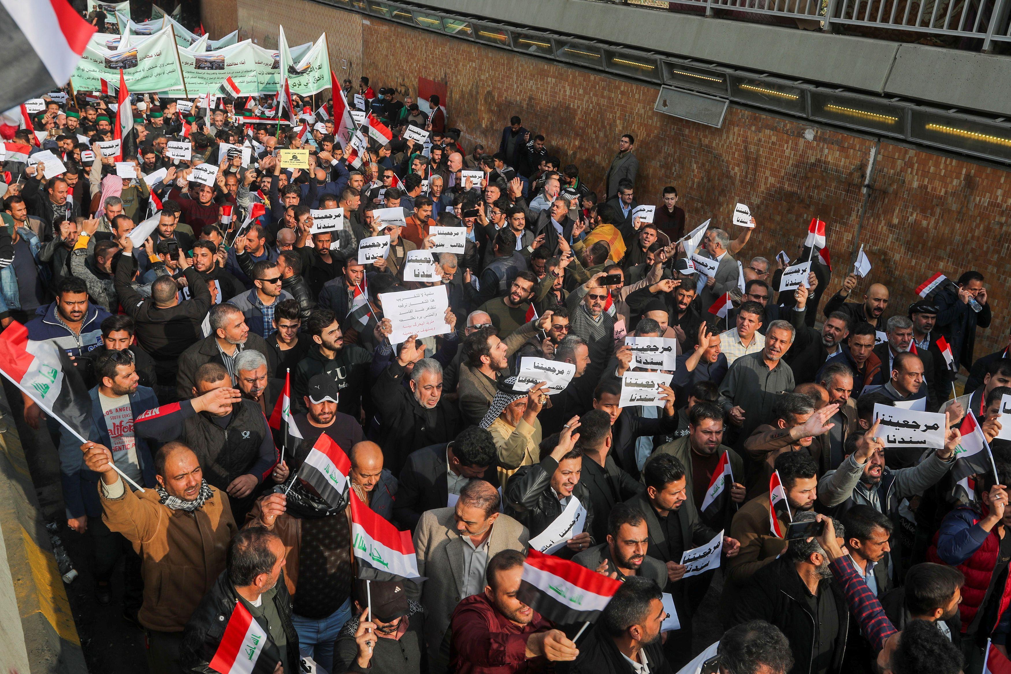 L'Irak proteste contre le nombre de morts tandis qu'un religieux met en garde contre l'ingérence