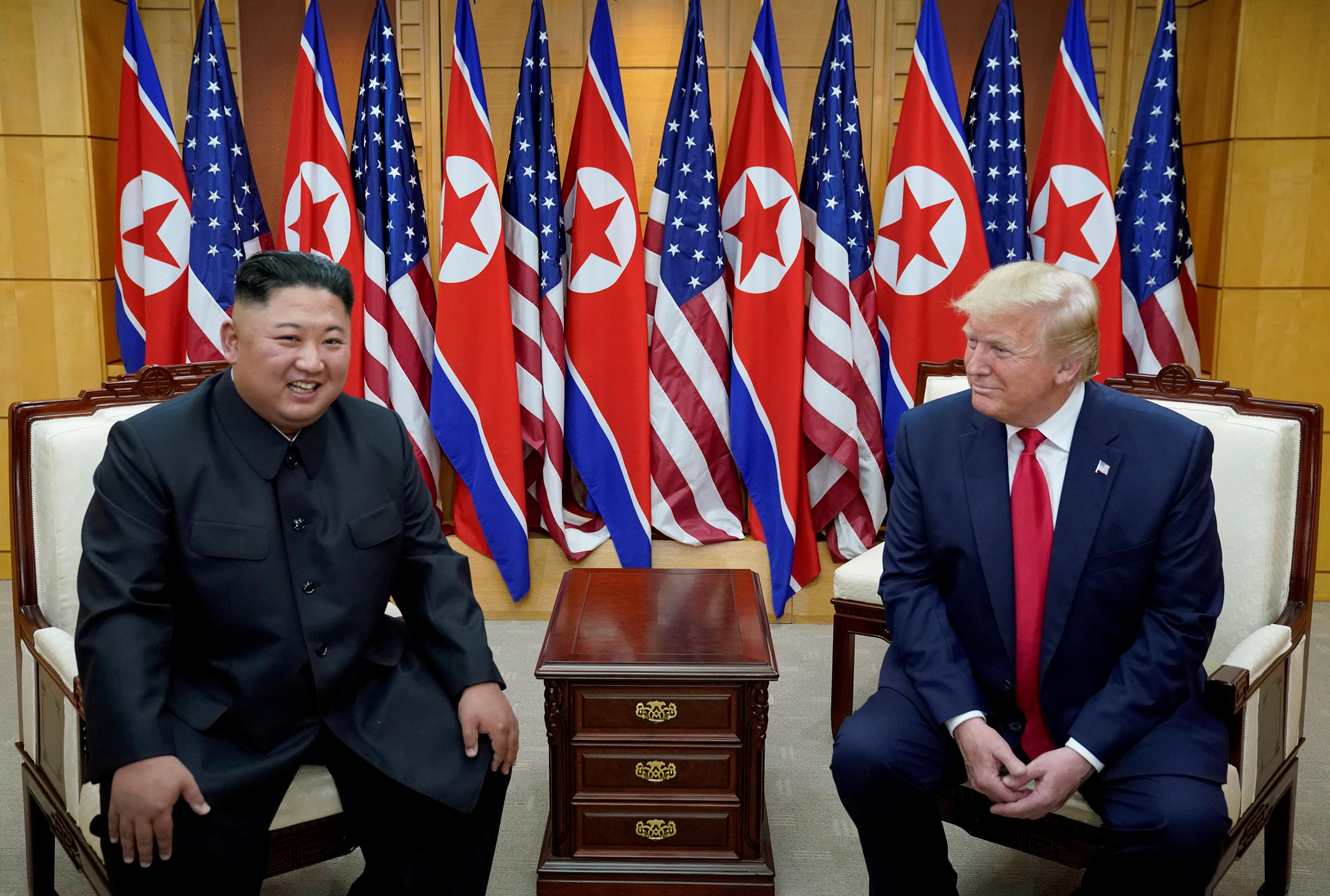 Trump says does not think Kim Jong Un wants to interfere in U.S....