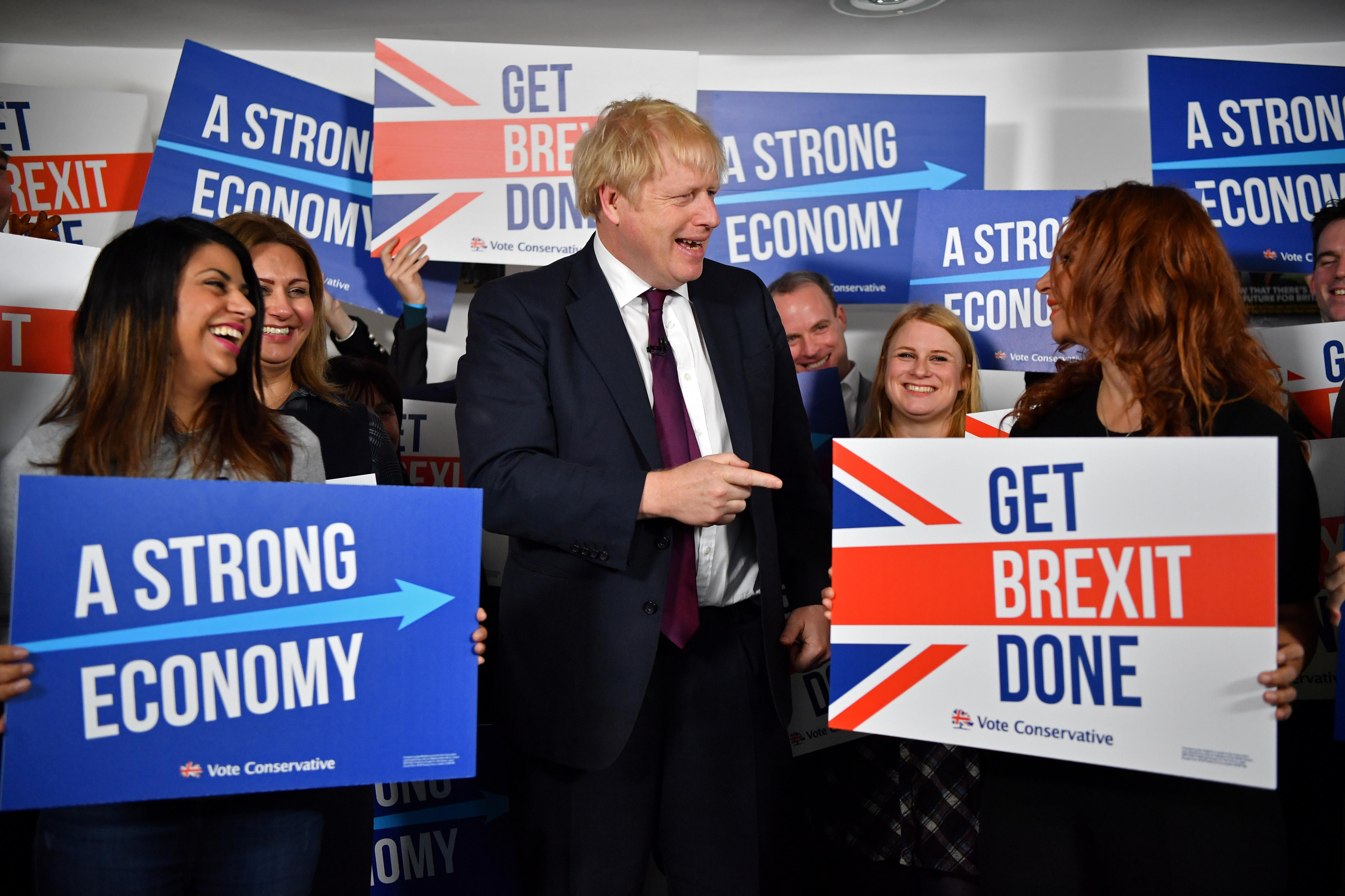 Johnson pledges transformative Brexit as nerves are rattled by UK...