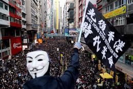 Vast crowds throng streets of Hong Kong
