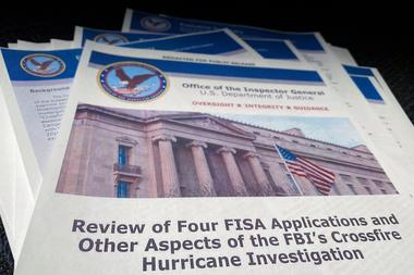 The U.S. Justice Department's Inspector General's report on the origin of...