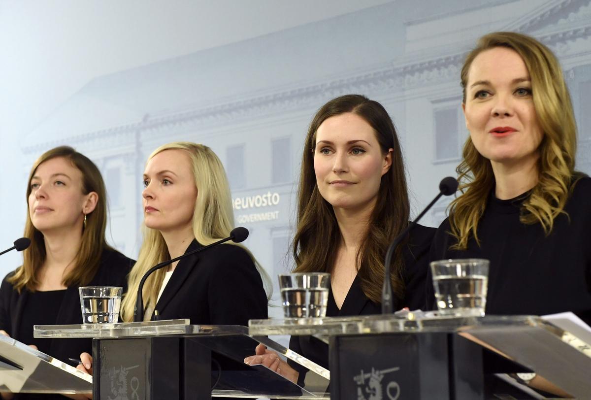 フィンランドに現職最年少34歳の女性首相、若手中心の連立発足