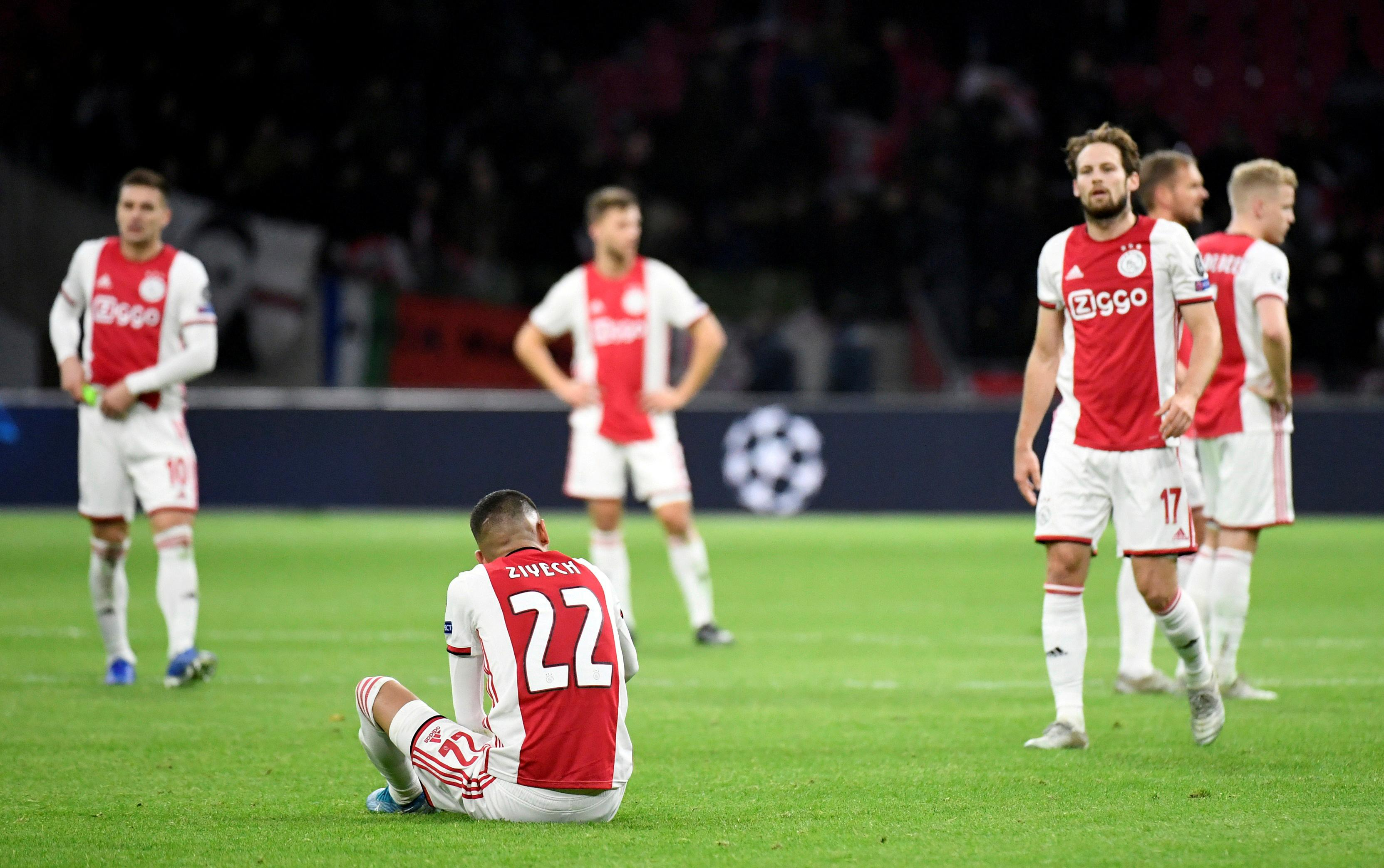 Ajax shares penalised for latest Champions League exit