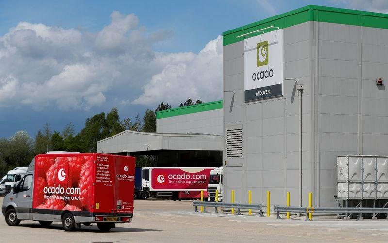 Britain's Ocado sees sales growth edge lower in latest quarter