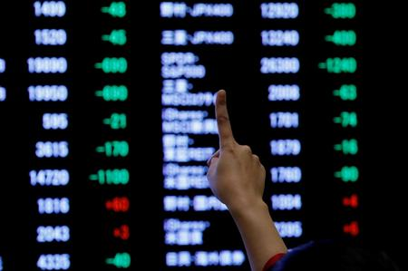 Asian shares, sterling on a high as global risks ebb