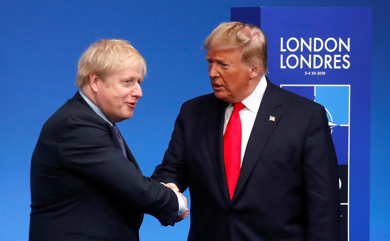 President Trump Says Americans are All Praying for his 'Very Good Friend' Boris Johnson After he was Moved to Intensive Care because of Serious Coronavirus Symptoms and Says he has Contacted Drug Companies to Help with his Care