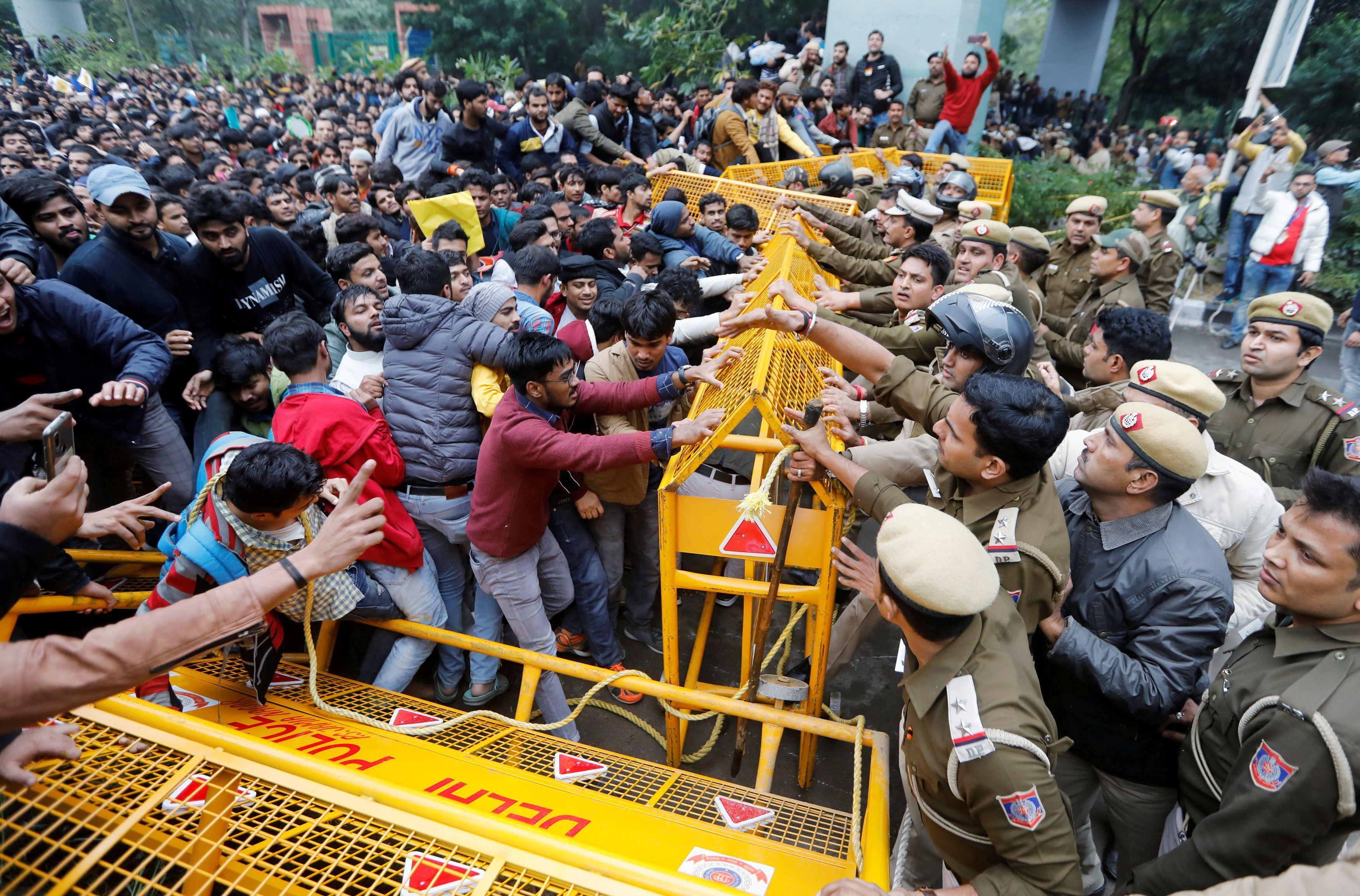 Clashes erupt in Delhi over citizenship law; Japan PM cancels visit