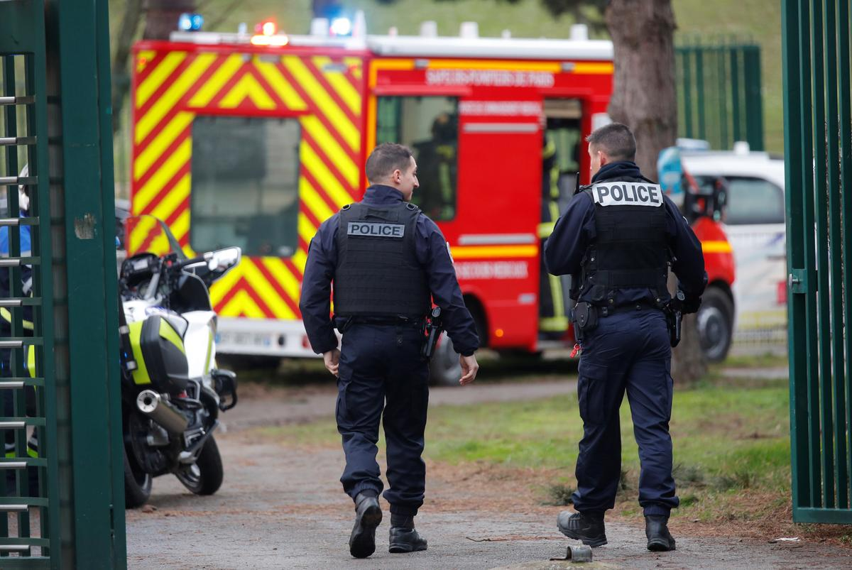 French police shoot dead man near Paris after fatal stabbing
