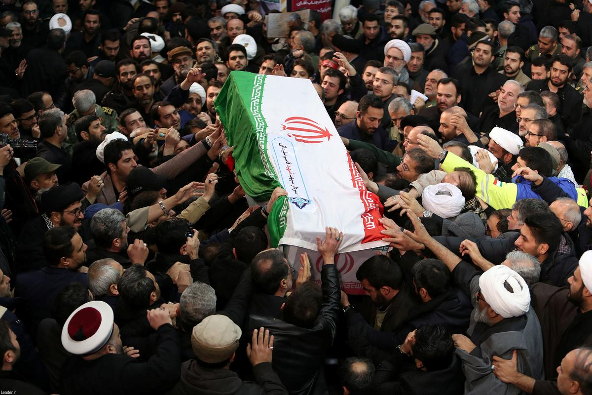 Body of Iranian commander killed in U.S. strike arrives for burial in southeast Iran: agency