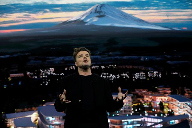 Danish architect Bjarke Ingels, CEO of Bjarke Ingels Group, talks about Woven City, a prototype city of the future on a 175-acre site at the base of Mt. Fuji in Japan, at a Toyota Motor Corporation news conference during the 2020 CES in Las Vegas, Nevada, U.S. January 6, 2020. REUTERS/Steve Marcus