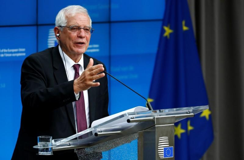 EU did not discuss process leading to U.N. sanctions on Iran: Borrell