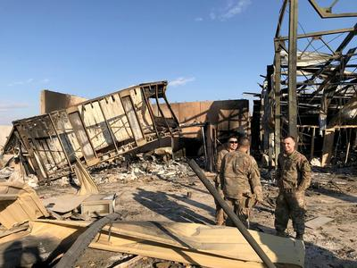 Inside Iraq air base after Iran missile strikes