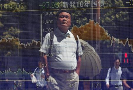 REFILE-GLOBAL MARKETS-Asian shares firm as China data show signs of easing economic strains