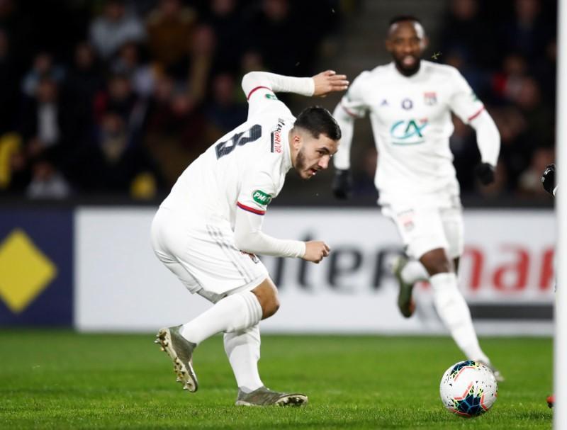 Cherki sparkles as Lyon reach French Cup last 16