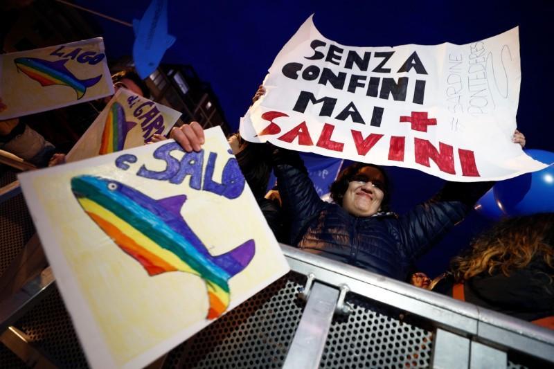 Italian Sardines square off against Salvini ahead of crucial vote