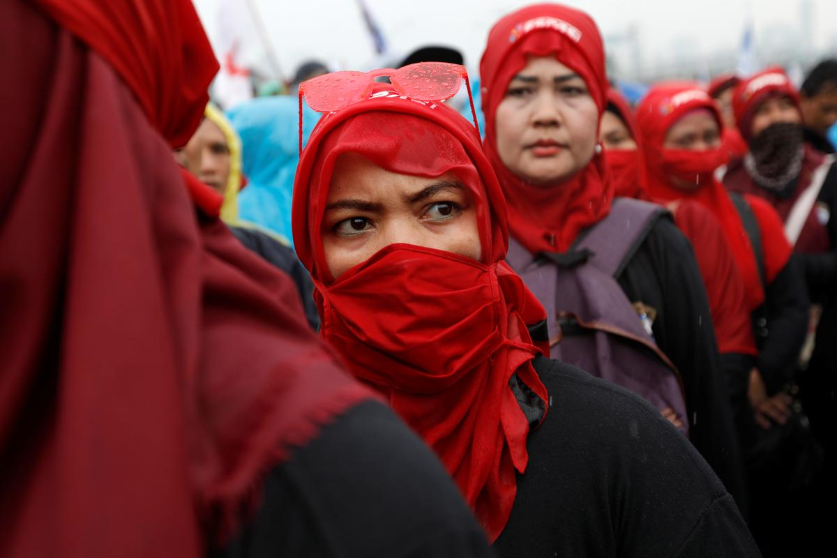 Indonesia unions hold protests over planned labor reform