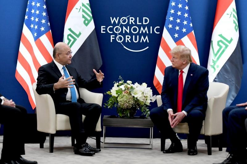Iraq happy with U.S. troops, Trump says at talks over mission's future