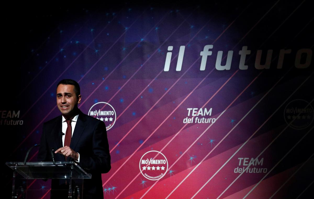 Italy's Di Maio quits as 5-Star leader in blow to government