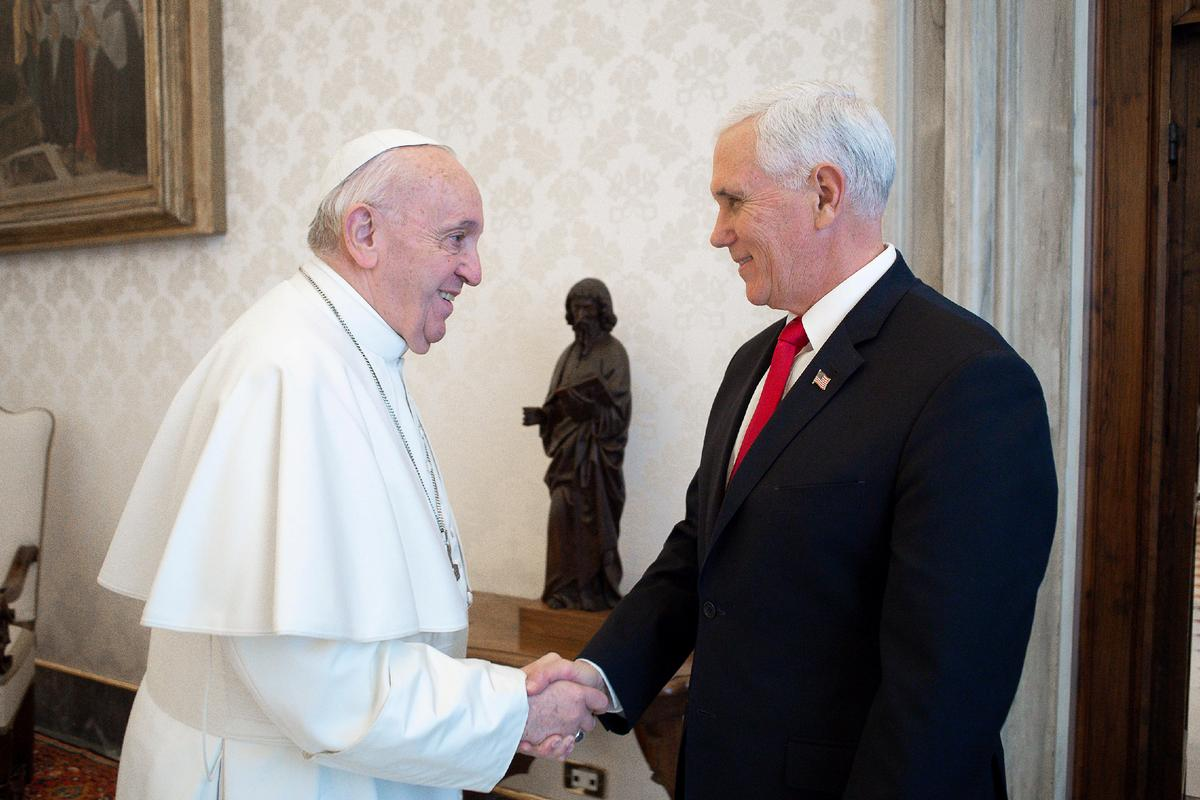 Pence to Pope Francis: 'You have made me a hero'