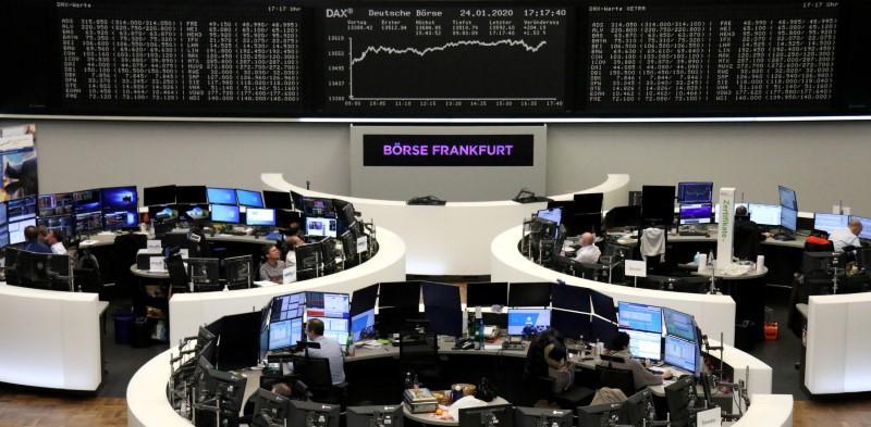 European shares jump as positive PMI paints rosier picture
