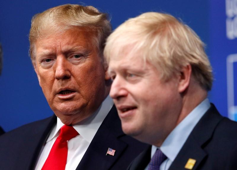 Trump speaks with British PM Johnson about telecoms security: White...