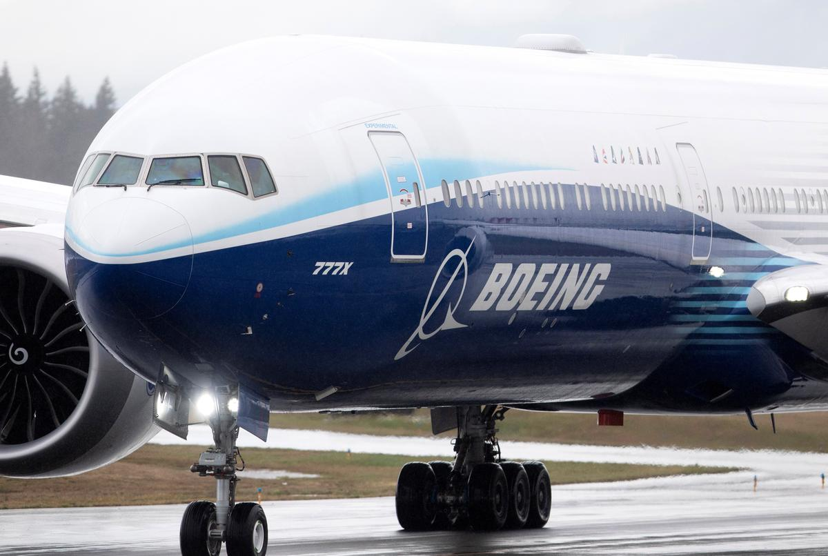 Boeing's 777X jetliner takes off on maiden flight