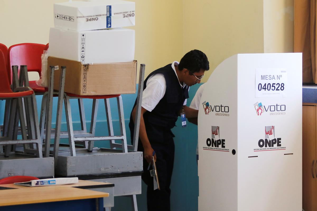 Peru elects deeply split Congress with right-of-center tilt