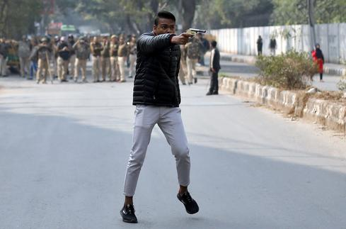 Gunman fires on citizenship law protest at Indian university