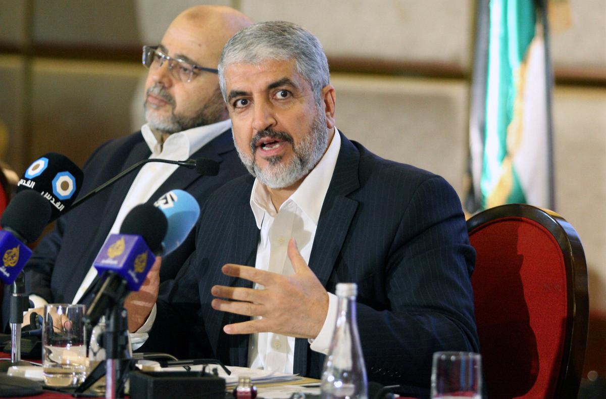 Hamas' Meshaal says Palestinians working to foil Trump plan