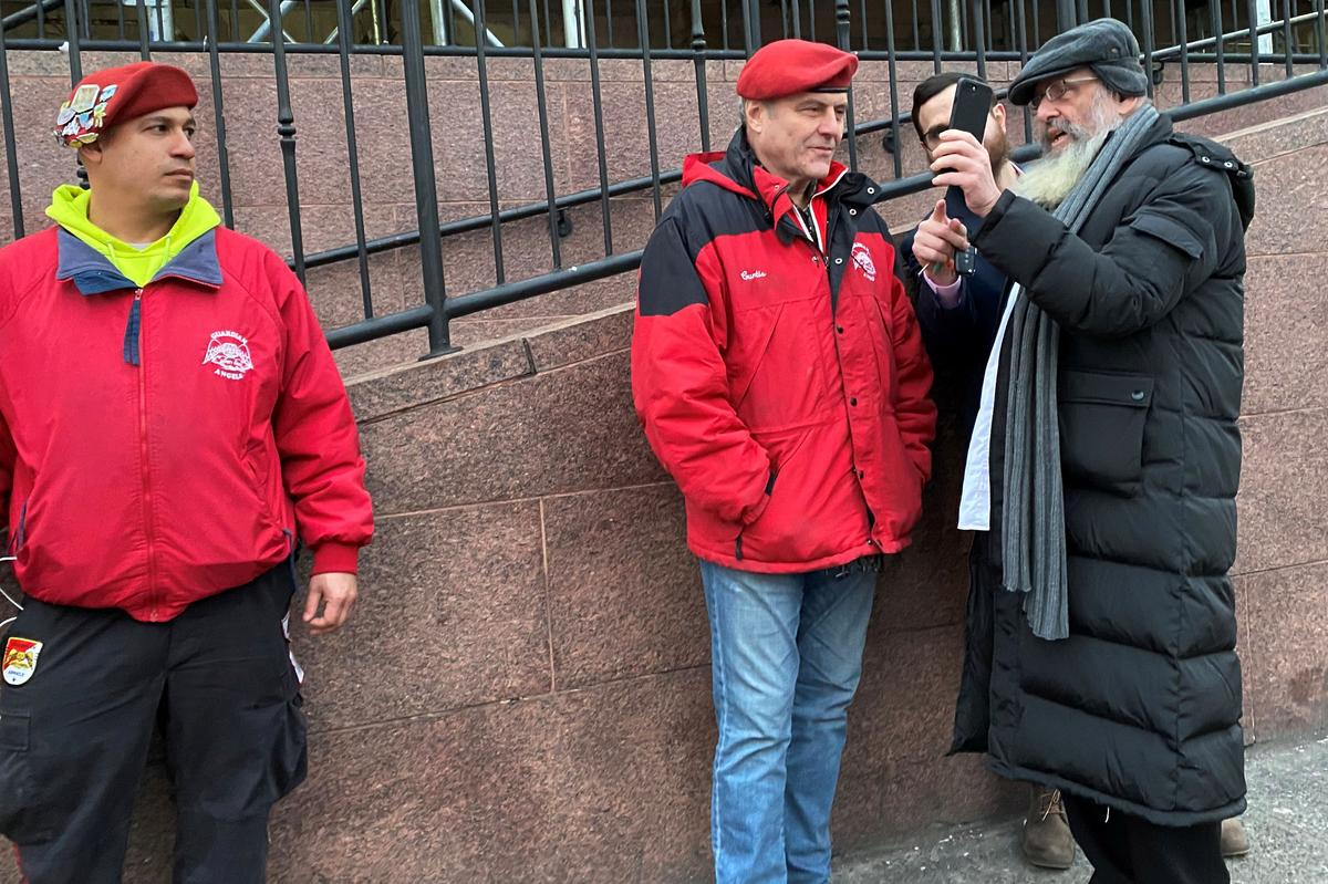 New York Guardian Angels patrol a Jewish neighborhood on edge