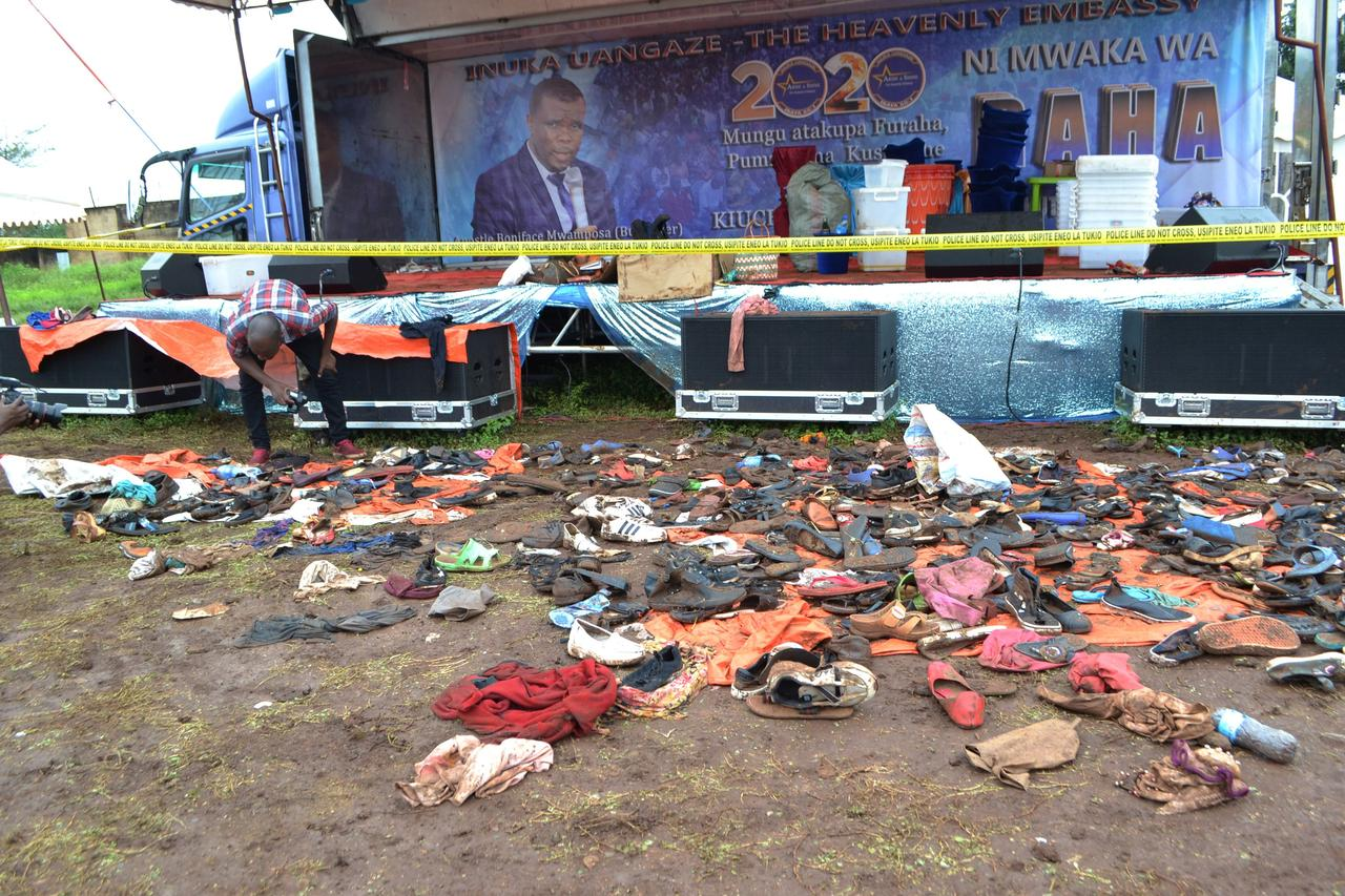 Image result for At least 20 people killed in stampede at church service in Tanzania