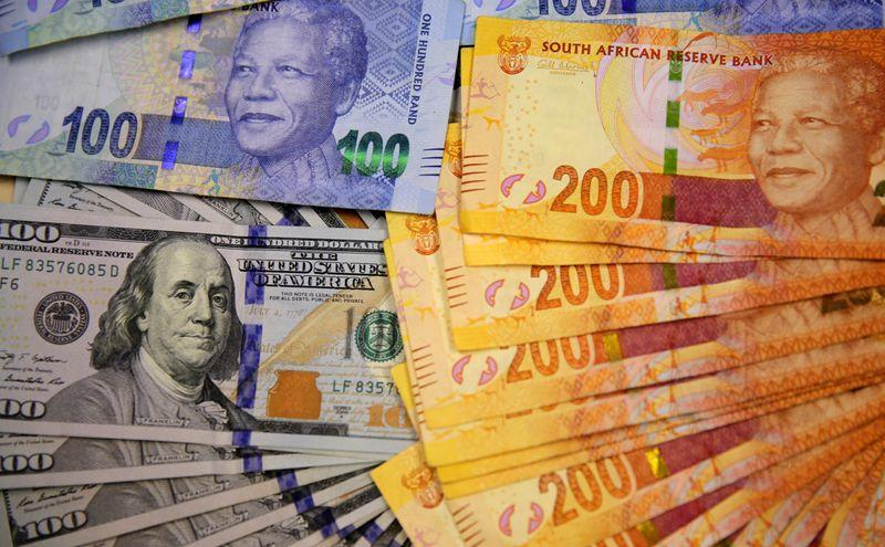 South African rand edges up as relief rally slows