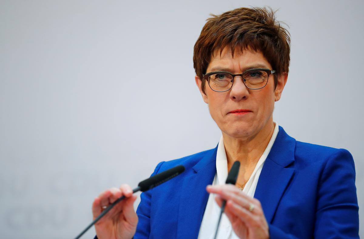 Merkel protegee Kramp-Karrenbauer confirms she won't run for chancellor